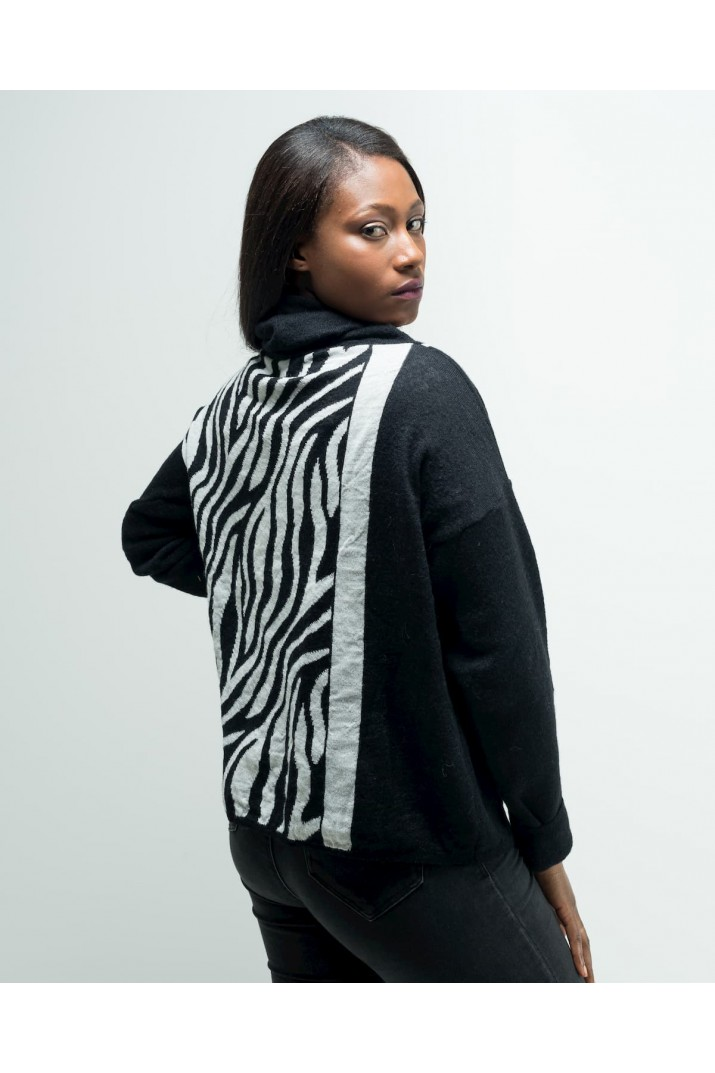 Oversize Zebra-striped Sweater