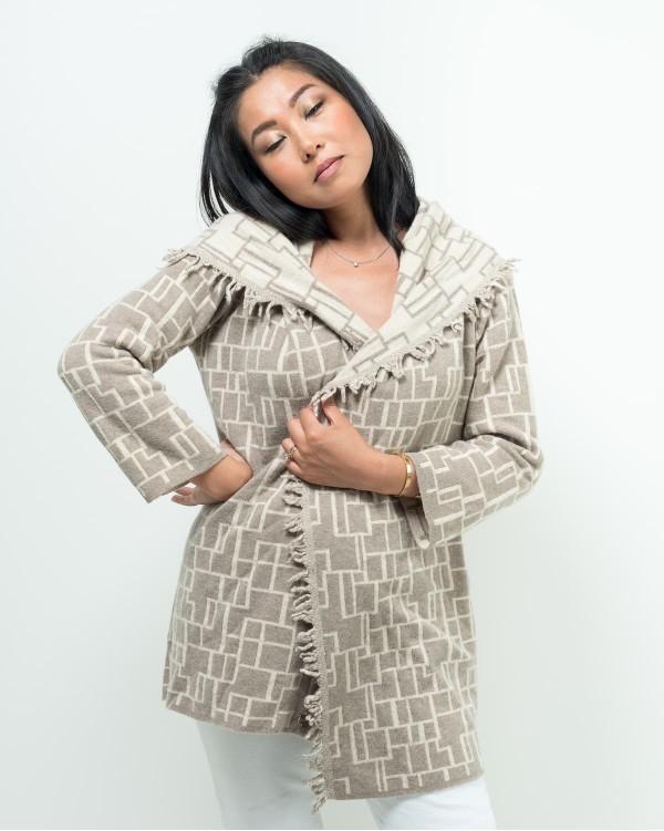 Geometric jacket Beige