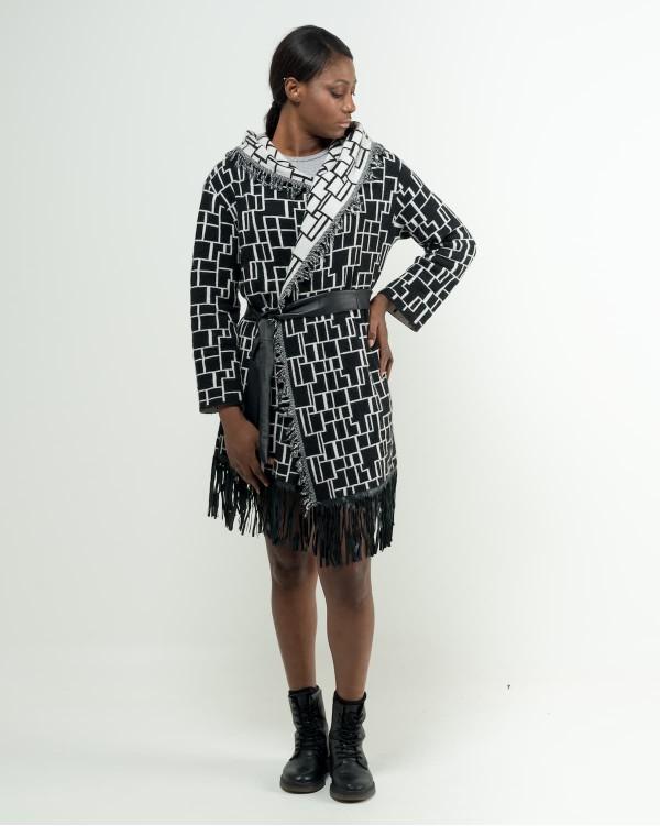 Geometric jacket Black