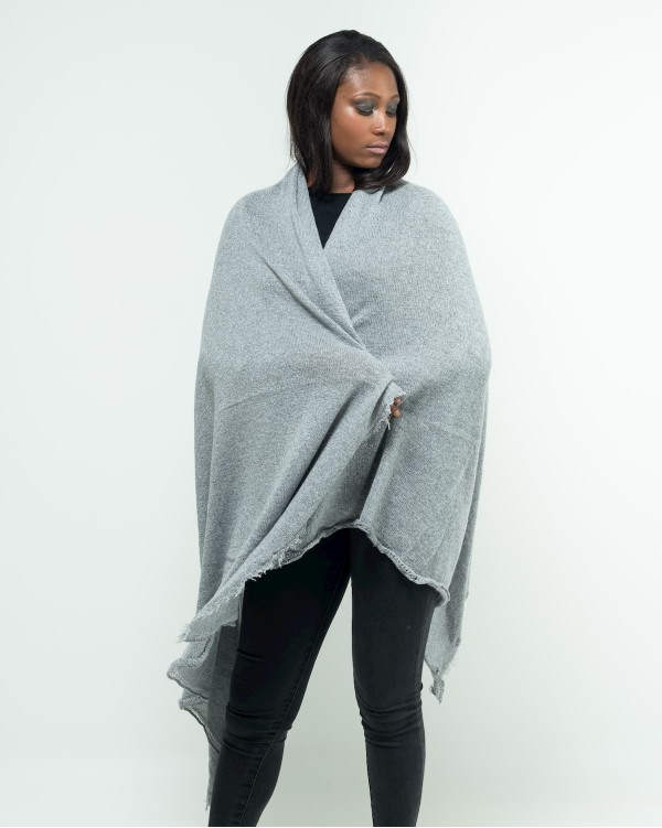 Grey stole in lurex