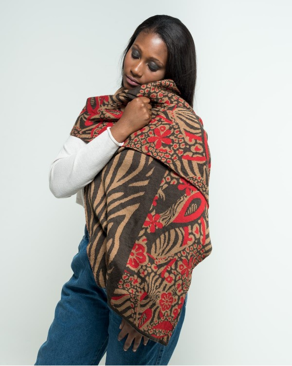 Abstract jacquard stole