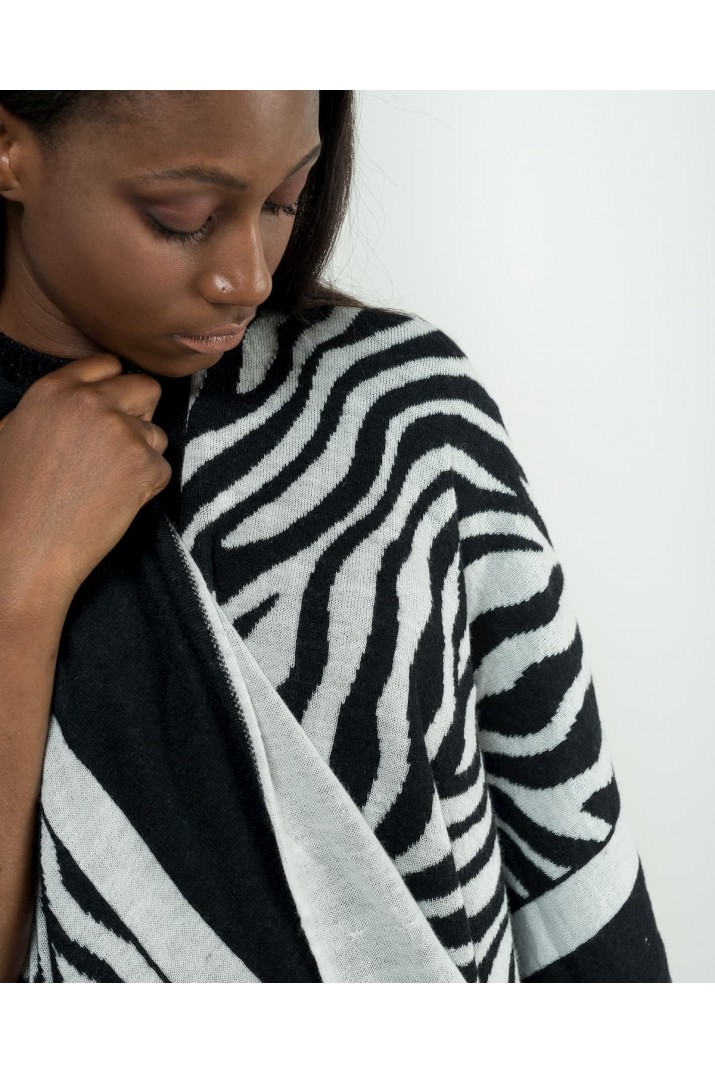 Zebra-striped cloak