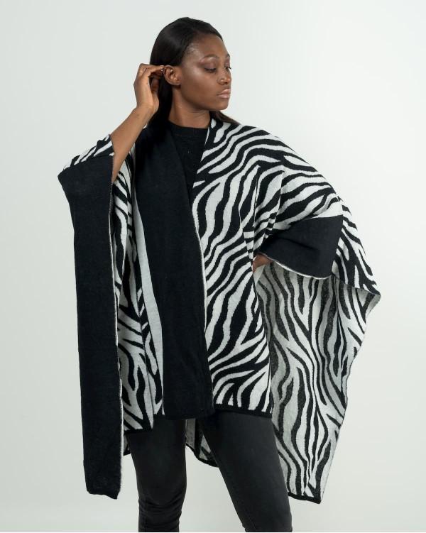 Zebra-striped cloak