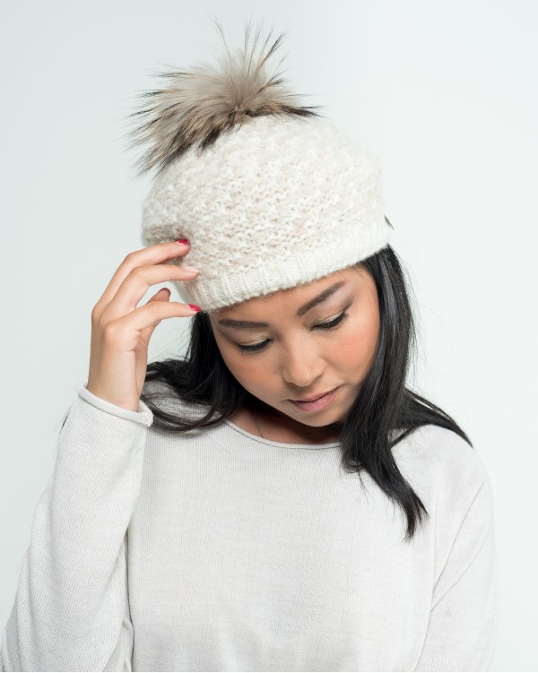 Beret with pompon