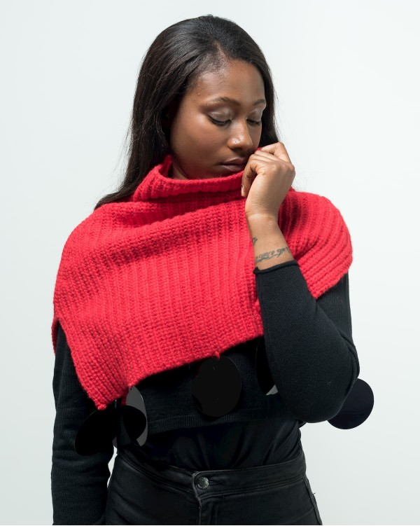 Red cape with application