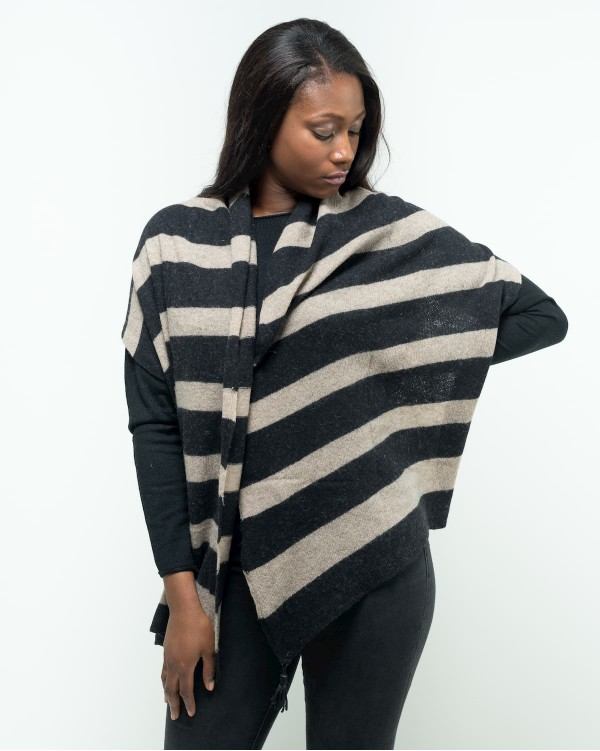 Striped stole with tassels
