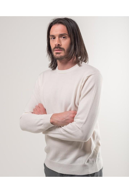 White Crewneck Sweater