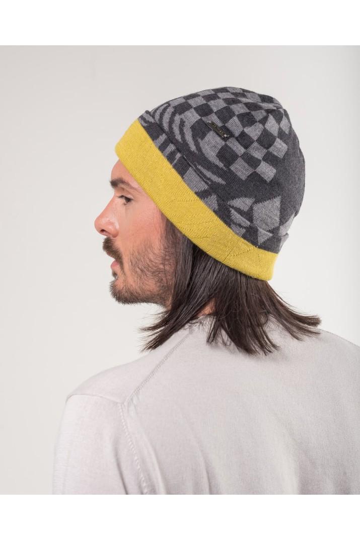 Checkered rap hat