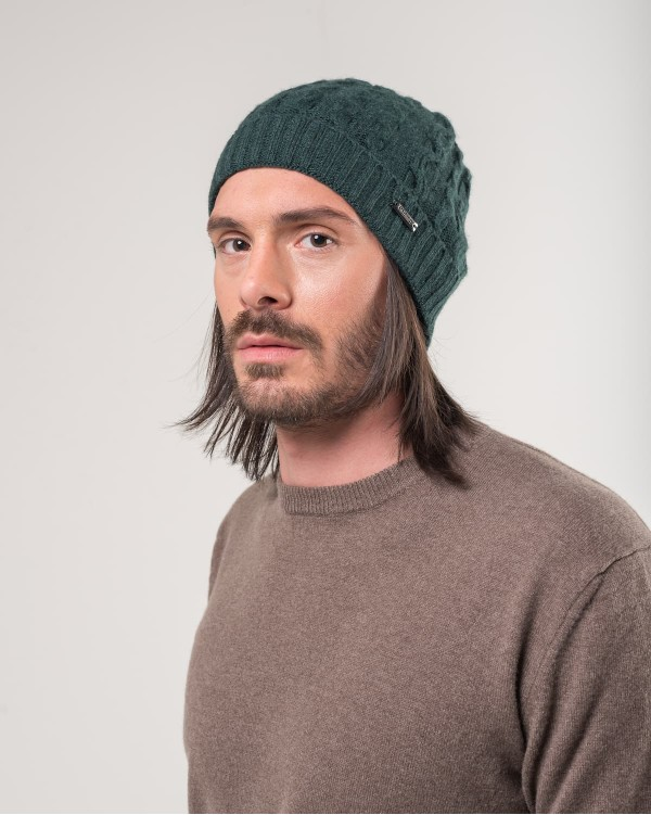 Green cap with raised braid